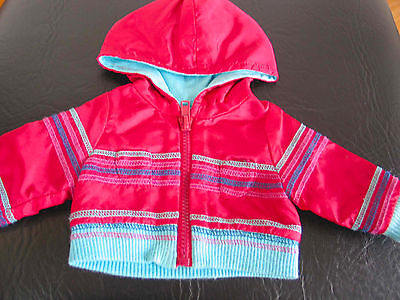 """Authentic American Girl 18"""" Doll Ready for Fun Red/Turquoise Zippered Jacket"""