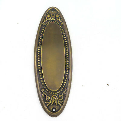 2 Solid Brass Rope Pattern Oval Decorative Push Plates in Antique Brass Finish