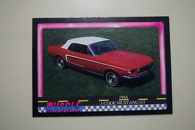 Muscle Cards Series 1 King Of The Hill #42 1968 J Code Mustang Convertible