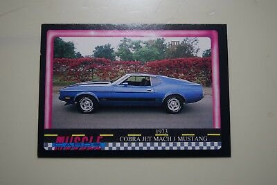 Muscle Cards Series 1 King Of The Hill #76 1973 Cobra Jet Mustang Mach 1