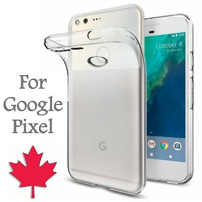 For Google Pixel & Pixel XL - Thin TPU Back Cover Clear Case