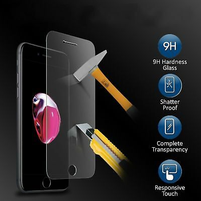 2x For Apple iPhone 7 8 Plus X Full Cover Curved Tempered Glass Screen Protector