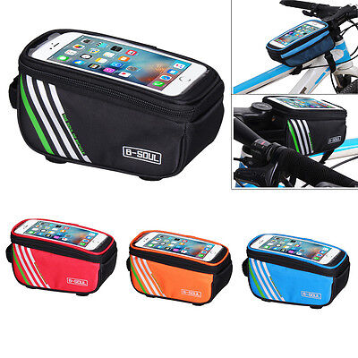 5.0/5.5 Inch 1.5L Waterproof Sports Cycling Bicycle Frame Front Phone Holder Bag
