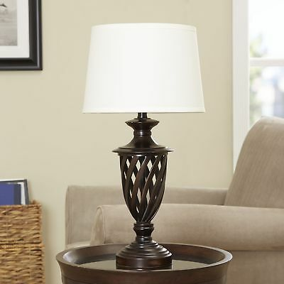New BETTER HOMES AND GARDENS Cage Table Lamp Base, Antique Bronze Finish