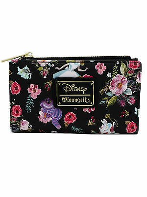 Loungefly Disney Alice in Wonderland Characters Cheshire Cat Flat Bi-Fold Wallet