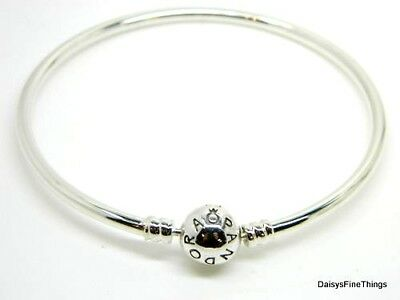 New/tag Authentic Pandora Silver Bangle Bracelet #590713 21Cm 8.3 In Choice Box