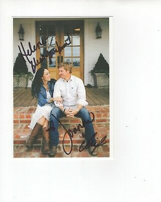 CHIP+JOANNA GAINES autographed 5x7 color photo     SIGNED BY BOTH    Fixer Upper