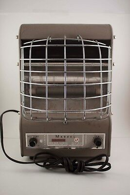 VINTAGE MARKEL NEO-GLO ELECTRIC SPACE HEATER Model C198TN 1500 Watts 120 volts