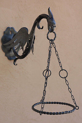 Antique Italian Plant Hangers (matched pair); historically significant