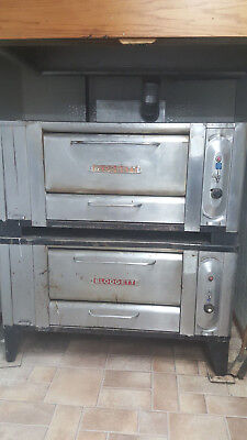 Blodgett 1000 Double Stack Pizza Ovens Natural Gas Tested Stone Deck