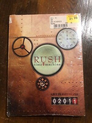 Rush-Time Machine - Live in Cleveland-2 dvd Disc, 2011 Brand new Sealed!