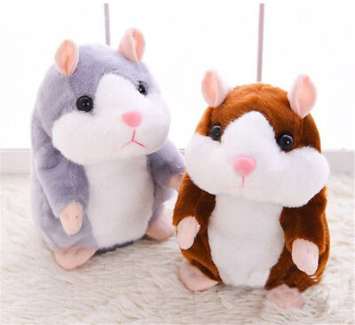 Talking Hamster Repeats What You Say Plush Animal Toy Electronic Pet Kids Gift