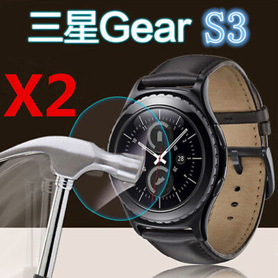 2Pcs For Samsung Gear S3 Frontier Tempered Glass Smart Watch Screen Protector TR