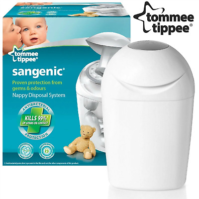 Tommee Tippee Sangenic Nappy Disposal System + Refill Cassette Baby Hygenic Bin
