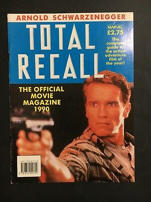 Movie Book Total Recall The Official Movie Magazine 1990