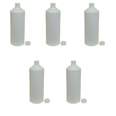 5 x 1 Litre Plastic Bottle White Water Food Juice Arts and Crafts Kitchen