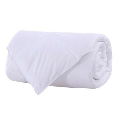 Bamboo Filled Blanket 300 Thread Count 100% Cotton Sateen White Shell