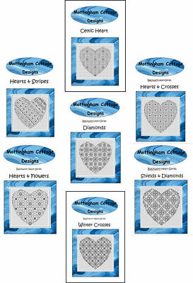 Blackwork Embroidery Kits - Hearts - Choose from a range of designs