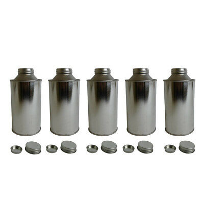 5 x 500 Ml Tinplate Conical Tin Bottle Water Based Liquids Paints Crafts
