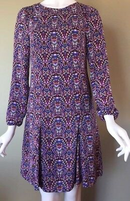 NEW The Limited Dress Tulip Hem Fall Floral Long Sleeve AnthropolOgie Insp Sz 4