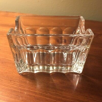Set Of 3 Restaurant Ware Glass Sugar Packet Holder Condiment!! Gently Used!!!!