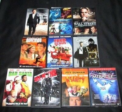 Lot of 10 DVDs Comedy Drama Action Horror Bad Santa 007 Jeff Dunham Max Payne
