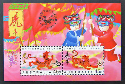 1998 Christmas Island Stamps - Lunar New Year-Year of Tiger Mini Sheet MNH
