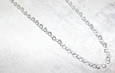 """925 Sterling Silver Fancy Unique Star Large Big Bold Link Chain Necklace 18"""""""