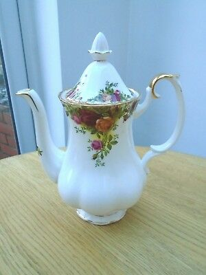 Vintage Royal Albert Old Country Roses Bone China Large Coffee Pot