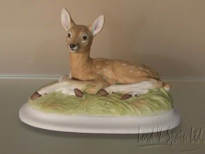Aynsley Bisque Porcelain ROE DEER FAWN Figurine-England