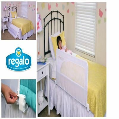 Swing Down Bedrail Bed Rail Crib Toddler Elderly Child Safety Net Guard 43 Long