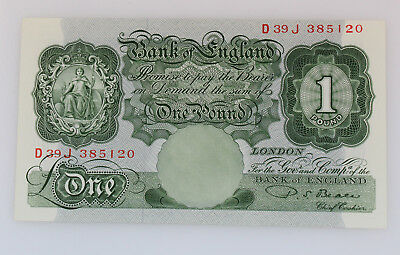 Banknote Bank of England One Pound 1949 - 1955 unc. Pick: 369b