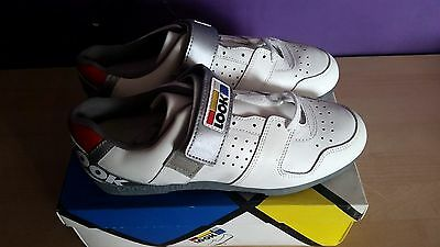 Look Vintage Retro NOS NEW Bike Cycling Shoes size 10 Eroica white cleats