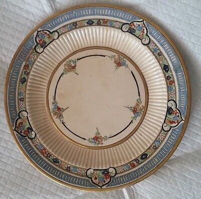 RIDGWAYS OLD IVORY BEDFORD WARE SILVER SALAD PLATE Vintage condition