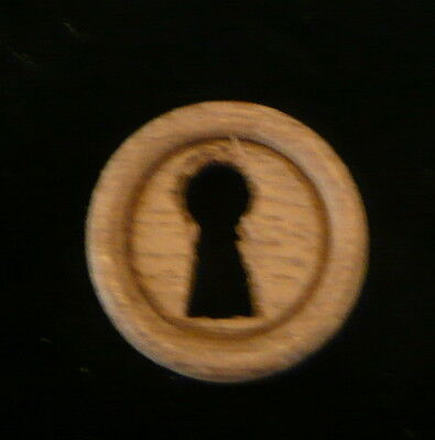 Walnut Wood Keyhole Escutcheon Wood Keyhole Cover - ANTIQUE FURNITURE