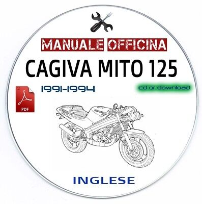 Manuale Officina Cagiva Mito 125 (1991-1994) Workshop Manual Service Repair