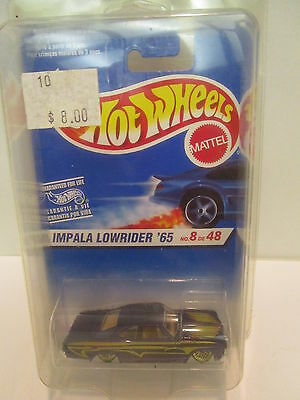 Hot Wheels Impala Lowrider '65 No. 8 of 46 with Hood/Side Stripes  Collectable