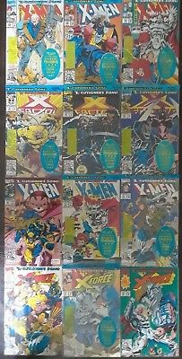 X-Men: X-Cutioner's Song Part 1 - 12 Complete (1992 & 1993, Marvel) High Grades!