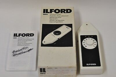 Ilford model EM10 darkroom exposure monitor with box and instructions