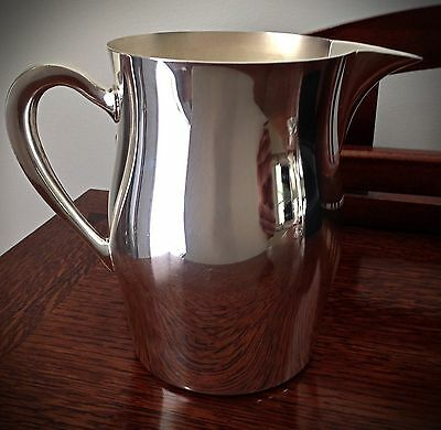 Beautiful Vintage Modern 1960s Academy Silver On Copper Pitcher - No. 15
