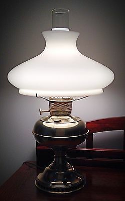 Antique/Vintage Bradley & Hubbard Hurricane Style Converted Oil Lamp - 21""