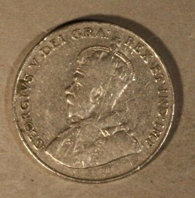 1925 Canada 5 Cents Average Circulated      ** Free U.S. Shipping **