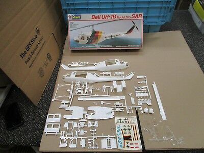 Vintage Revell Bell Uh-1D Model 205 Sarhelicopter Plastic Model Kit Rare