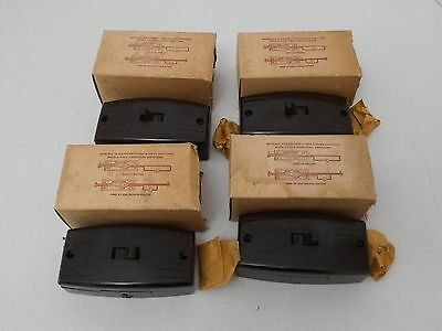 Vintage P&S SURFEX Bakelite Single-Pole Switch - Lot of 4 - NOS