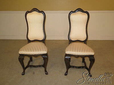 22914E: Pair Of French Louis XVI Style Carved Side Chairs