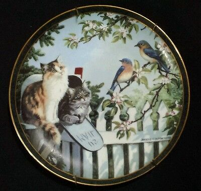 """Special Delivery"" Collectible Plate by Persis Weirs_Nosy Neighbors _Wild Wings"