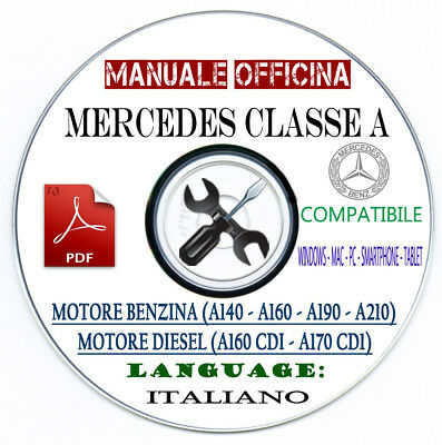 Manuale Tecnico Officina Mercedes-Benz Classe A 1997-2004 Italiano CD