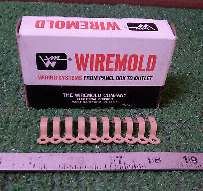 100 New Wiremold 205 1-Hole Straps, Buff ***make Offer***