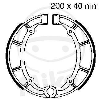 EBC Plain Brake Shoes Y515 hinten Yamaha XV 535 H Virago Flachlenker 1991-1993