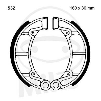 EBC Plain Brake Shoes Y532 hinten Yamaha YFM 350 A GX Grizzly 2WD 2008